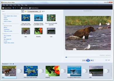 Screenshot aplikasi Windows Movie Maker 2.0