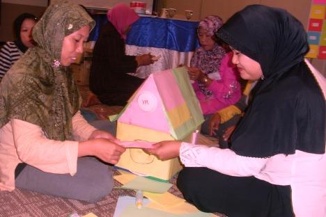 Salah satu Alat Peraga Murah (APM) hasil karya peserta pelatihan.