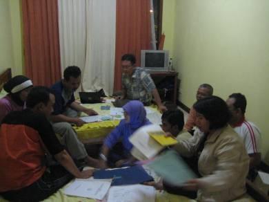 Suasana rapat koordinasi