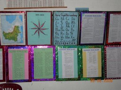 Dingding PSBG diwarnai hiasan yang memuat informasi pendidikan yang dibuat dan dikreasi oleh Asnat Lumbantobing
