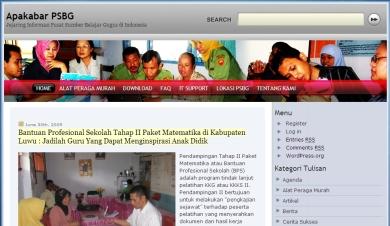 Tampilan Blog ApaKabarPSBG.Com