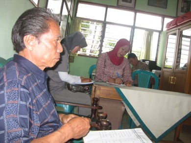Yuventus Lungan, Kepala SD Katolik Mamajang I Makassar disela-sela kegiatan DBE 2