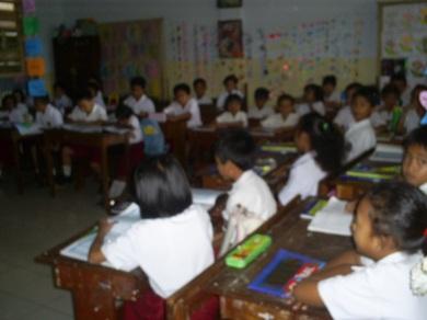 Salah satu sudut kelas di SD Katolik Mamajang I