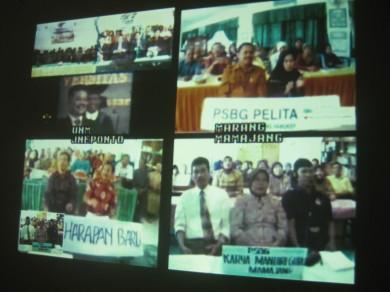 Visualisasi video conferens di PSBG Karya Mandiri Guru-Mamajang Kota Makassar