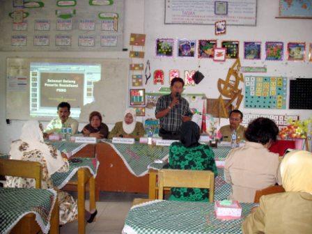 Sosialiasi pengembangan PSBG di PSBG Cemerlang tanggal 21 Juli 2009.