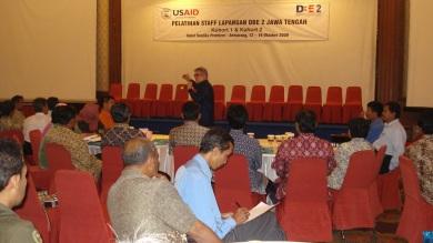 Mr. Michel Calvano berorasi di hadapan para stakeholders Jawa tengah